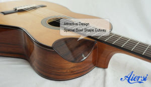 Attractive Special Bowl Cutway Shape Spanish Classical Guitar pictures & photos