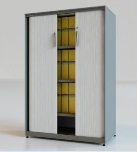 Sv Series Roll Shutter Door Filing Cabinet with 3 Shelves pictures & photos