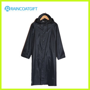 Polyester Long Sleeve PVC Raincoat (RVC-103) pictures & photos