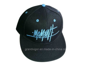 Blend Acrylic and Wool Snapback Hat with Flat Bill pictures & photos