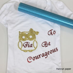 0.5m*25m Roll Size PU Heat Transfer Vinyl /Glitter Heat Transfer Vinyl for Textile, Cotton Fabric pictures & photos