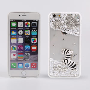 New Style Crown Diamond and White Pearl PC Cell Phone Case for iPhone