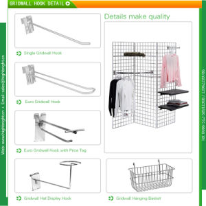 Chromed Slatwall Loop Euro Hooks for Grocery Stores pictures & photos