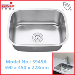 Hot Sell American Style Single Bowl Stainless Steel Sink (5945) pictures & photos