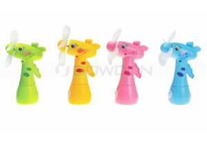 Mini Spray Fan Cute Giraffe Shape Handheld Portable Children Water Misting Fan pictures & photos