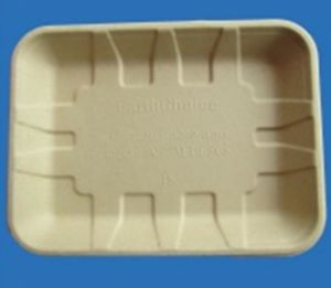 Biodegradable Bamboo Pulp Tray / Plate pictures & photos