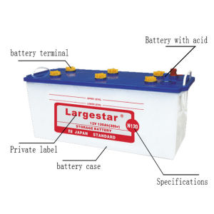 N120 12V120ah 12V Starter Dry Heavy Duty Battery pictures & photos
