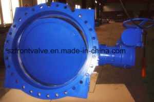 Ductile Iron Double Flanged Eccentric Butterfly Valve pictures & photos