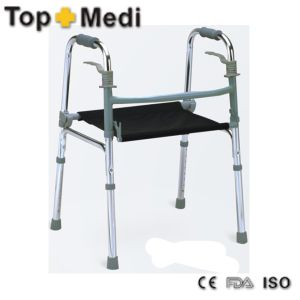 Adjustable Height Lightweight Elder Man Walking Aids Rollator with Seat pictures & photos