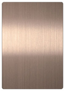 201 Bronze Color Stainless Steel Sheet with Brushed Finish pictures & photos