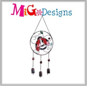 Promotion Metal and Glass Ladybug Wind Chime pictures & photos