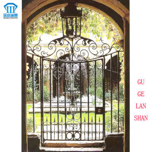 High Quality Crafted Wrought Single Iron Gate 028 pictures & photos