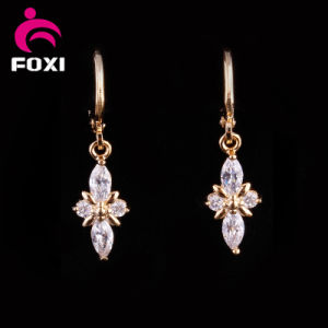 Factory Price18k Gold Gemstone Chandelier Earrings pictures & photos