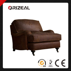 Orizeal English Roll Arm Leather Chair (OZ-LS-2024) pictures & photos