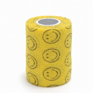Smile Face Printed Cohesive Coban Flexible Bandage pictures & photos