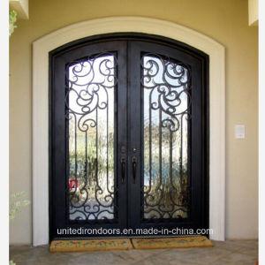 Made in China Eyebrow Top Iron Double Door (UID-D062) pictures & photos