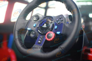 Luxury 6 Dof Electric Cylinder Platform Vr Racing Car with 3 Screens Supplier pictures & photos