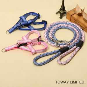 Knitting Nylon Quality Pet Leash Dog Adjustable Harness Lead pictures & photos