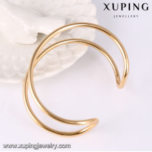51607 Xuping Fashion Simple Gold Plated Jewelry Open Bangle pictures & photos