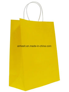 Custom Design Promotional Recyclable Luxury Retail Kraft Paper Bag pictures & photos