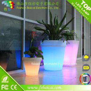 Illuminous Outdoor Plant Pot and Plastic LED Light Flower Pot pictures & photos