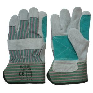 Anti-Scratch Leather Protective Work Hand Gloves for Refinery pictures & photos
