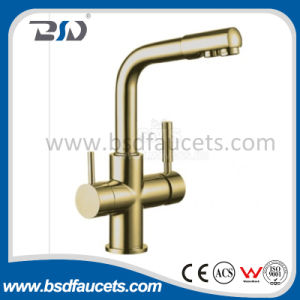 Pure Water Filter Mixer 3-Way Bronze Brass Kitchen Sink Water Tap pictures & photos