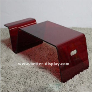 Clear Organic Glass Coffee Table (BTR-A1010) pictures & photos