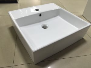 Square Bathroom Wash Ceramic Basin (7094A) pictures & photos