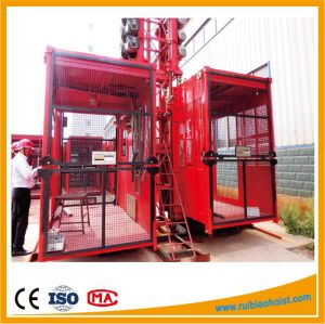 Double Cabin Material Building Hoist pictures & photos