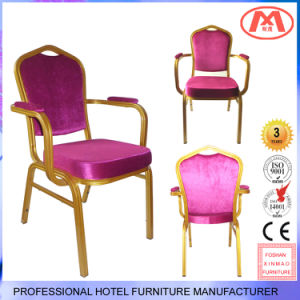 Factory Wholesale Useding Aluminum Armrest Banquet Chair for Restaurant pictures & photos