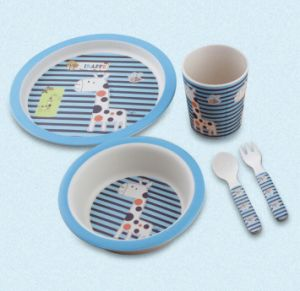 BPA Free Bamboo Fiber Kitchenware Kids Dinnerware Set (YK-KS012) pictures & photos