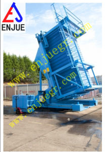 Container Lifting Tilter with Telescopic Hydraulic Cylinder Container Unloading Ramp pictures & photos