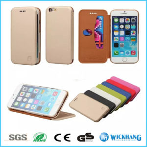 PU Leather Stand Flip Rubber Case for iPhone 6 7 Plus pictures & photos