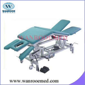 De-7 Treatment Bed with Adjusted Armrest and Foot Control pictures & photos