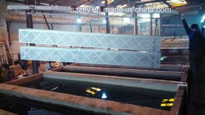 Aluminum/Aluminium 6063 Alloy Extrution Sheet Multi-Head Gang Drilling Profile pictures & photos