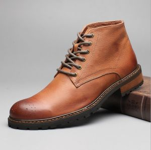 Genuine Leather Men Boots Fashion High Quality Ankle Boots (AKPX20) pictures & photos