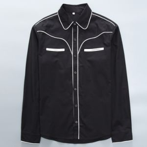 Western Wear Collar Shirt Long Sleeves Long Sleeves Men Buttons Shirts pictures & photos