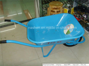 Hand Pull Single Wheel Trolley Construction Wheelbarrow pictures & photos