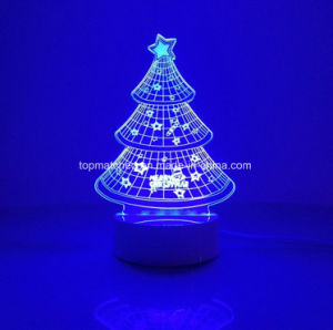 Chirstmas Tree Home Decoration Desk Lamp 3D Illusion LED Night Light pictures & photos