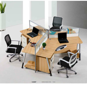 China Hot Sales Fashionable Three Workstation Office Partition pictures & photos