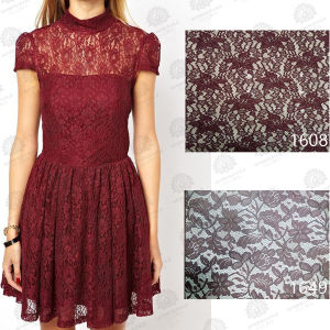 Nylon and Spandex Mesh Lace Fabric for Women Dressing