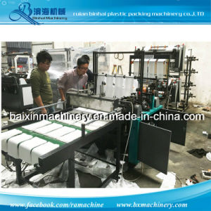 Two Bags Making Machine Automatic Flat Bag / T-Shirt Bags Making Machine Cold Cutting Machine 4 Lines pictures & photos