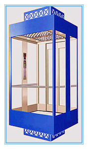 ISO9001 Passenger Sightseeing Home Villa Lift Without Machine Room pictures & photos