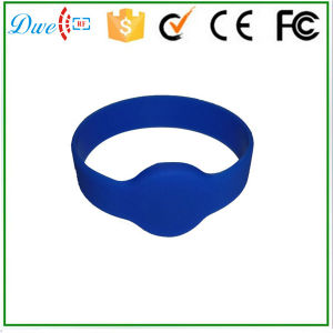 125kHz Access Control Tk4100 Silicone Waterproof 74mm Diameter RFID Wristband Bracelet Tag pictures & photos