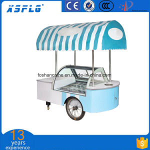 12 Flavor Stainless Steel Ice Cream Cart/Price of Push Cart pictures & photos