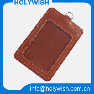 Wholesale PU Badge Card Holder in Brown Color pictures & photos
