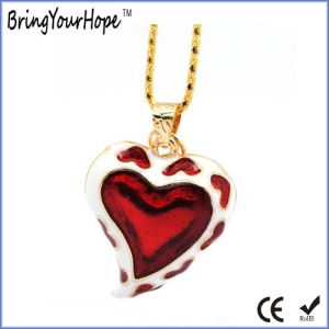 Necklace Style Love Heart Shape USB Drive (XH-USB-097) pictures & photos