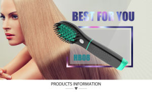 Rechargeable Cordless Battery Hair Brush Straightener pictures & photos
