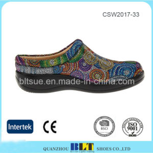 Leather Upper Fashion Outsole Classic Clog Silhouette Women Shoes pictures & photos